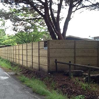 Mur cl ture palissade panneaux anti bruit isolation sonore mur anti bruit silenzo - Palissade anti bruit ...
